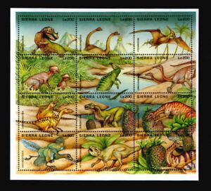 Sierra Leone 2257-68 ** Dinosaurier  (1995)