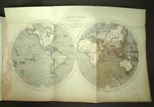ATLAS CARTES GEOGRAPHIQUES COURS D'ETUDE 19e siècle 28 cartes du monde antic map