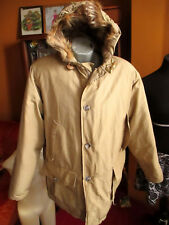 LARGE True Vtg 80's Woolrich Stone Down Fill Coyote Fur Parka Coat/Jacket  USA
