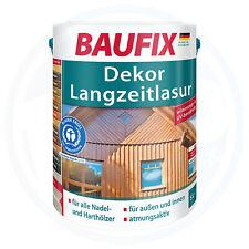 BAUFIX Dekor Langzeitlasur Innen Außen Lasur Holzlasur seidenglänzend 5 L