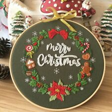Christmas Beginners Cross Stitch Kits - Embroidery Kit for Beginners