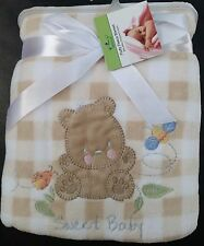 Newborn Baby Bedding Blanket Soft, Cozy, Snuggly Sweet Baby Brown Bear