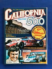 1979 California 500 Ontario CA Program w/Patch Bobby & Al Unser Mario Andretti
