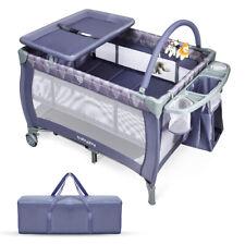 Baby Travel Cot 3 IN 1 Foldable Bassinet Infant Portable Portacot Playpen Crib