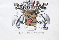 c1880 von Westerholt-Giesenberg Lithographie-Wappen
