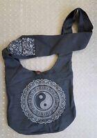 Fair TRADE YOGA HIPPIE NEPAL 100% COTTON SHOULDER BAG YINYANG LOTUS SLING BAG