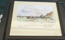 MUMBLES Swansea Framed watercolour by U. SHELBY