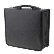 2pcs Portable 400 Disc CD VCD Storage Bag PU Leather Wallet Holder Case Box