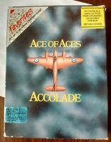 """Ace Of Aces 1986 Accolade IBM/XT 5.25"""" Floppy Disk PC Game Complete Used"""