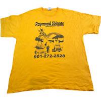 VINTAGE T Shirt XL Yellow Raymond Skinner Community Center Graphic Tee