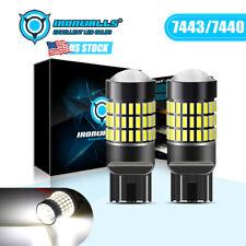 Ironwalls 7443 7440 7444 Led 6000k White Brake Stop Tail Parking Light Bulbs 2x Fits Mazda 6