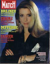 Paris Match n°1697 du 04/12/1981 Catherine Deneuve Chadli Algérie Bourgogne