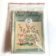 Vtg Elsa Williams Bleeding Hearts Crewel Embroidery Kit Unworked 12x12 Kc318