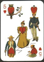 1 CARTA DA GIOCO PITTORICA - VANITY FAIR - PLAYING CARD CO. CINCINNATI, USA 1845