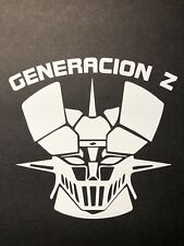 Mazinger Z Logo Vinyl Car / Wall Decal Voltron Japan Gundam Tranzor White Matte