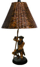 KIM TAYLOR REECE KEKOA Canoe Paddler Hawaiian Dancing Hula Man TABLE LAMP Light