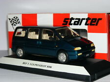 Starter T113 Resin 1994 Peugeot 806 Metallic Turquoise 1/43