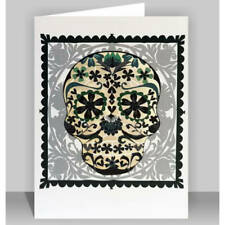 Black Skull  - Laser cut greeting Card #544 , papercut card,