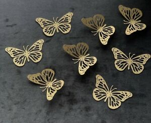 Butterfly Cupcake Toppers 12 In A Pk . Purple Packs / Silver Packs Or Gold Pks