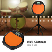 LCD Digital Drum Pad Metronome Drummer Training Practice with Stereo Earphone sg