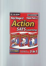ACTION SATS LEARNING KS2 TRIPLE PACK : HISTORY SPELLING MENTAL MATHS : PC GAME