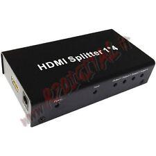 HDMI 4 PORTE SPLITTER FULL HD 1080 TV SDOPPIATORE MONITOR SORGENTI SU TELEVISORE