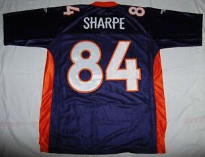 DENVER BRONCOS SHANNON SHARPE NFL REEBOK SEWN THROWBACK JERSEY 2XL