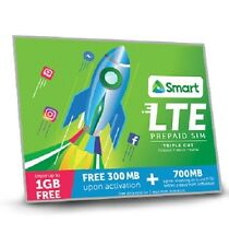 SMART Prepaid Philippines Travel Use Prepaid SIM Card Mini Micro Nano w 300 Load