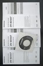 ONKYO DV-BD507 Original Blu-Ray Disc Player Bedienungsanleitung + Original CD