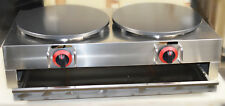 New Commercial Double Pancake Maker Gas Crepe Machine Pan Griddle Machine