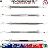 5x Lustreuses Dentaires Instruments Comblement Amalgame x 5 Medentra New Lab