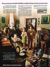 PUBLICITE  1972   WELCOME PIERRON  vetements enfants