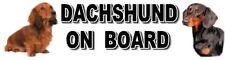 DACHSHUND ON BOARD Car Sticker By Starprint