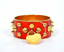 ALEXANDER McQUEEN  RED PUNK METAL SPIKED CUFF BANGLE BRACELET PERFECT GIFT RARE