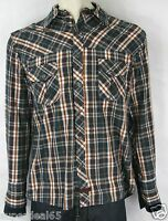 Fender Shirt By Rock and Roll Religion  Prize Fighter Navy Plaid