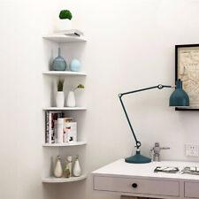 3-5 Tiers Floating Wall Shelves Corner Shelf Storage Display Bookcase Home Decor
