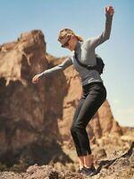 AS NEW ATHLETA BLACK DRESS PANTS - TRAVEL -  HIKING - SIZE 12 - HIGH RISE