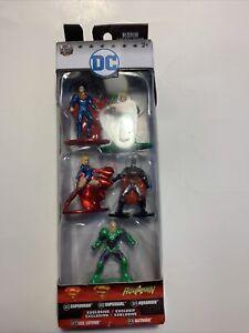 Nano Metalfigs DC COMICS Die Cast Metal Figures-Super Man Batman Jada 5 pack