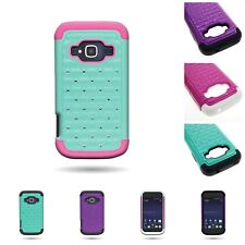 For ZTE Concord 2 II - Stylish Diamond Hybrid Bling Phone Cover Case