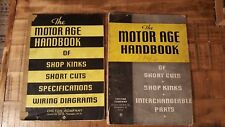 The Motor Age Handbook  (2 Volumes) / 1946 Edition Chilton Company