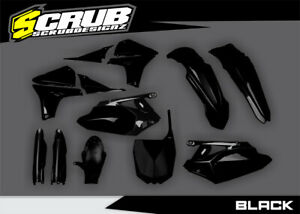 Yamaha YZ450F YZF450 2010 2011 2012 2013 Black / White / Blue Plastic Body Kit