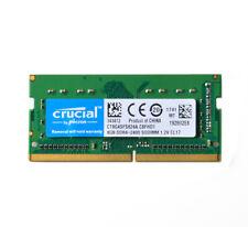 Crucial DDR4  Memory  8 GB PC4-19200 2400T SODIMM RAM 8GB  Laptop CT8G4SFS824A