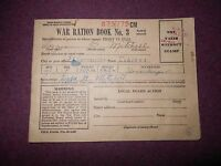 ANTIQUE VINTAGE WAR RATION BOOK NO. 3
