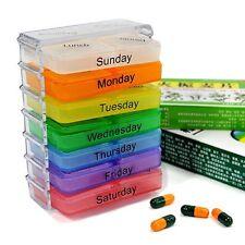 7 Tage Pillenbox Pillendose Tablettendose Tablettenbox Medikamentenbox JJ2082
