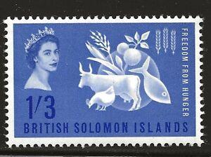 Solomon Islands Scott #109, Single 1963 Complete Set FVF MH