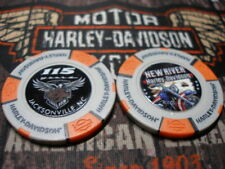 Grey & Orange 115th Anniversary Poker Chip Jacksonville, NC Harley Davidson