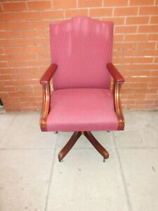 A Pink Fabric Gainsborough Style Office Chair ****DELIVERY AVAILABLE*