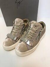 Worn Twice.Giuseppe Zanotti Velvet Low Top Trainers.Shoes.Sneakers.uk 4/37.£550