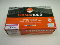 1st fix collated nails 50mm x2.8 box 1100 + gas cartridge Firmahold fit Paslode