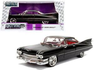 1959 Cadillac Coupe Deville Die-cast Car 1:24 Jada Toys 8 inch Black